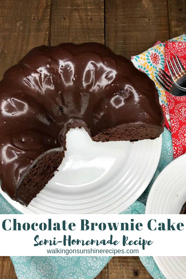 Chocolate Brownie Cake from Walking on Sunshine