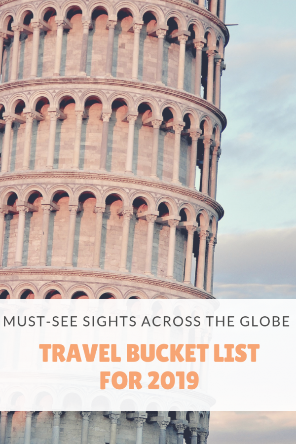 Travel Bucket List for 2019
