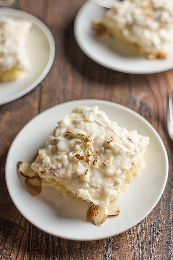 White Texas Sheet Cake from Bunny's Warm Oven