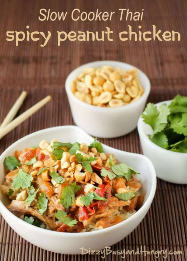 Thai Spicy Peanut Chicken from Dizzy Busy and Hungry
