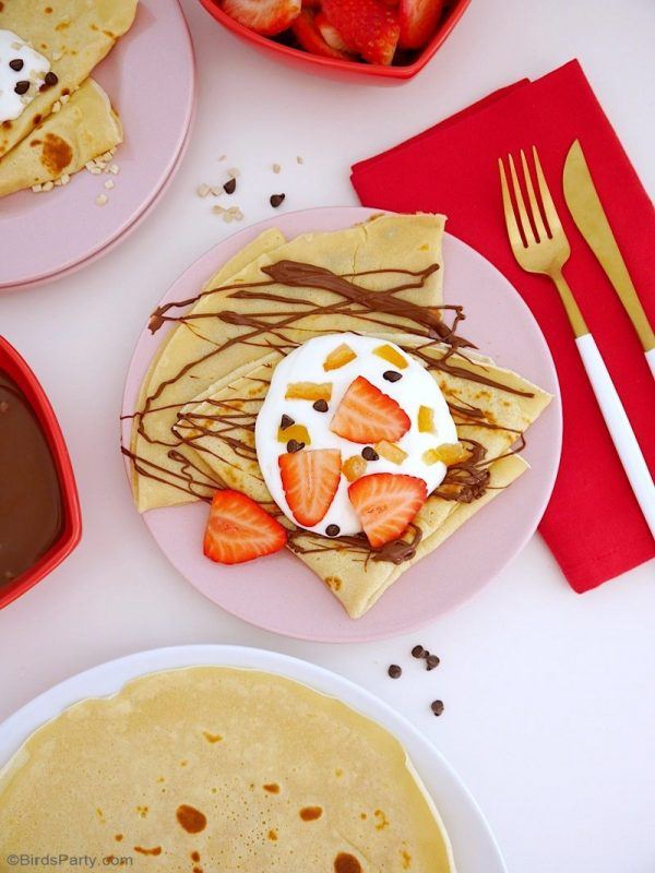 French Crepes Pancake Recipe from Bird's Party