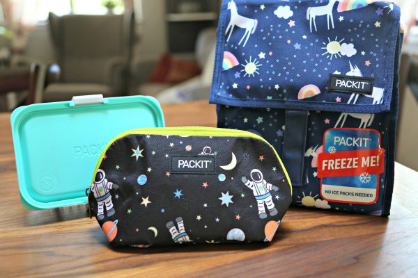 PackIt Freezable Lunch Bags and Snack Bags plus Customizable Bento Box