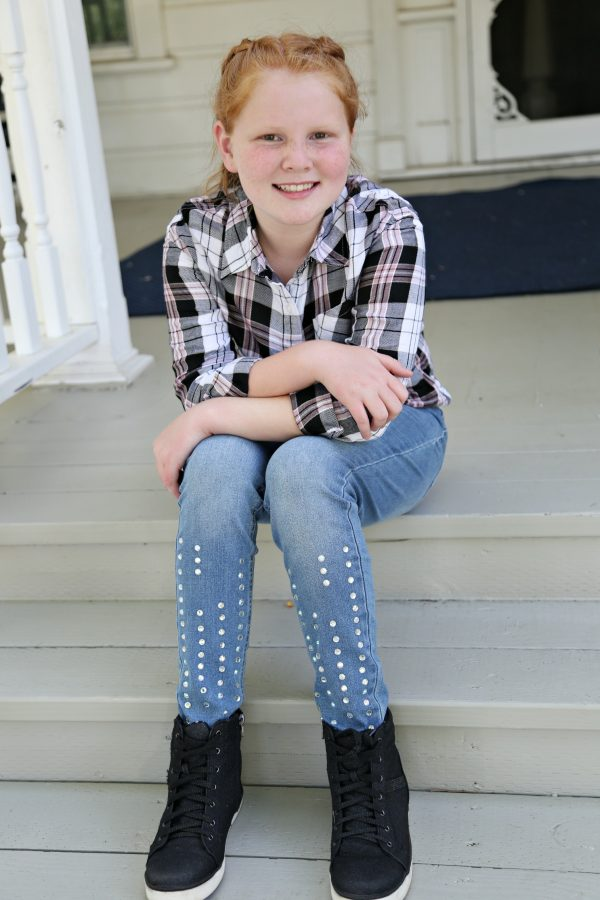 Jeweled Pull On Leggings from Jutstice Fashion for Tweens