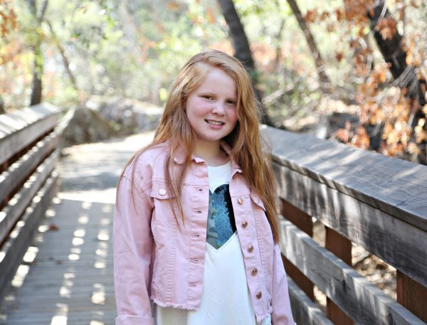 Pink Frayed Denim Jacket from Justice for Tween Fashion