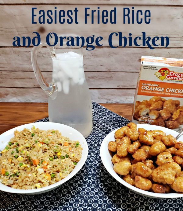 Easiest Fried Rice and Orange Chicken