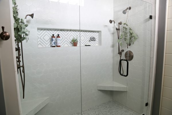 Farmhouse Chic Master Bath Spa Shower