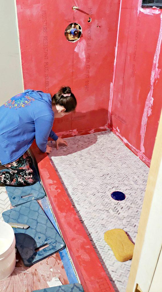 Tiling Shower Floor