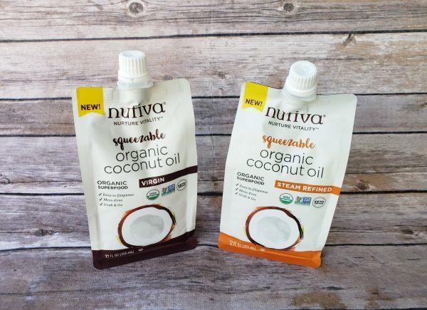 Squeezable Organic Virgin Coconut Oil & Squeezable Organic Steam Refined Coconut Oil from Nutiva