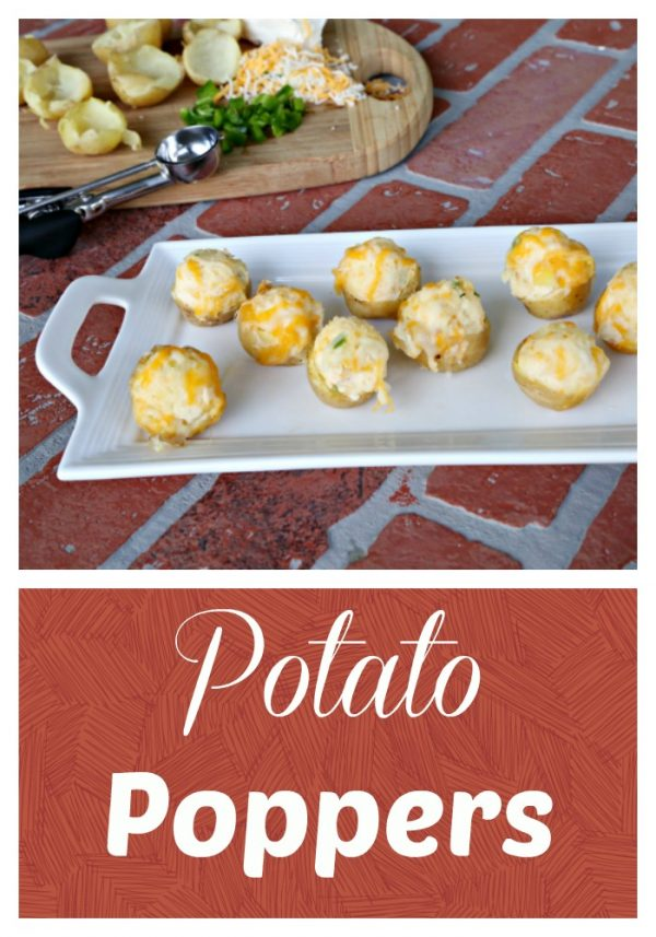 Potato Poppers are the perfect bite-size cross between a potato skin and a twice baked potato