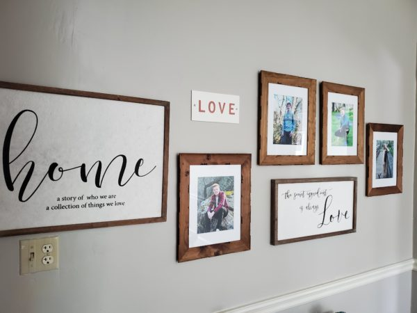 Gallery Wall for using family memories in home decor